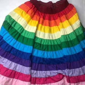 Rainbow Square Dance Skirt square up fashions sz L